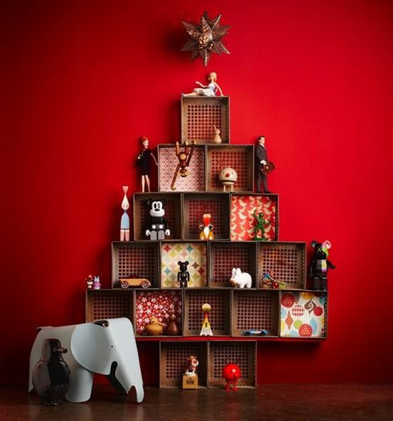 decoracao de arvore de natal tradicional:20 ideais de Árvore de Natal criativas para fugir do tradicional